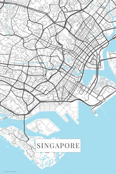 Singapore white térképe