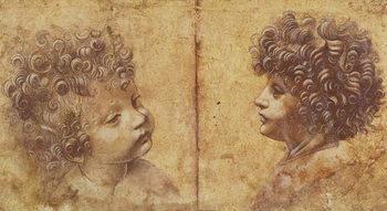 Study of a child's head Festmény reprodukció