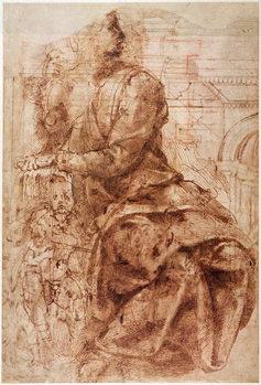 Study of Sibyl Festmény reprodukció