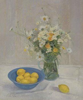 Summer Daisies and Lemons, 1990 Festmény reprodukció