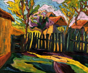 Sunny Courtyard Festmény reprodukció
