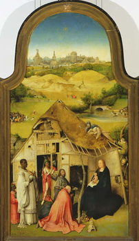 The Adoration of the Magi, detail of the central panel, 1510 (oil on panel) Festmény reprodukció