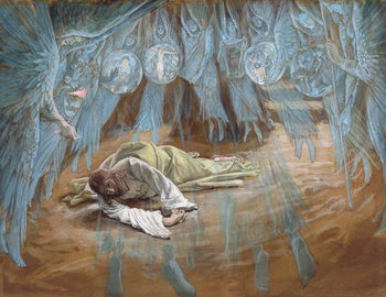 The Agony in the Garden, illustration for 'The Life of Christ', c.1886-94 Festmény reprodukció