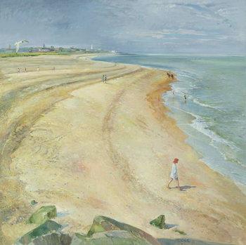 The Curving Beach, Southwold, 1997 Festmény reprodukció