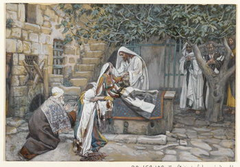 The Daughter of Jairus, illustration from 'The Life of Our Lord Jesus Christ' Festmény reprodukció