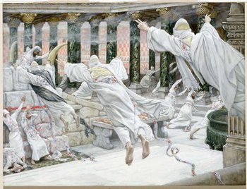 The Dead appear in the Temple, illustration for 'The Life of Christ', c.1886-96 Festmény reprodukció