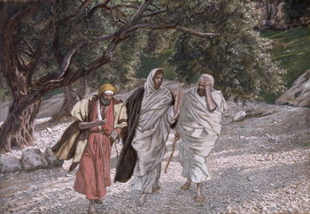 The Disciples on the Road to Emmaus, illustration for 'The Life of Christ', c.1884-96 Festmény reprodukció