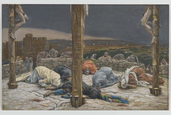 The Earthquake, illustration from 'The Life of Our Lord Jesus Christ', 1886-94 Festmény reprodukció