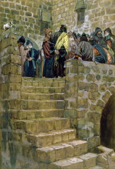 The Evil Counsel of Caiaphas, illustration for 'The Life of Christ', c.1886-96 Festmény reprodukció