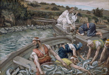 The First Miraculous Draught of Fish, illustration for 'The Life of Christ', c.1886-94 Festmény reprodukció