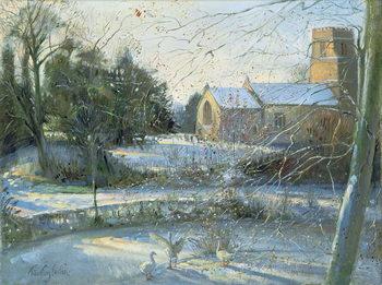 The Frozen Moat, Bedfield Festmény reprodukció