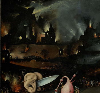 The Garden of Earthly Delights, 1490-1500 Festmény reprodukció