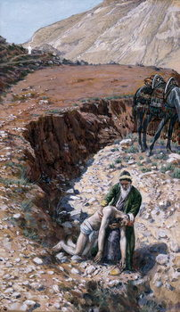 The Good Samaritan, illustration for 'The Life of Christ', c.1886-94 Festmény reprodukció