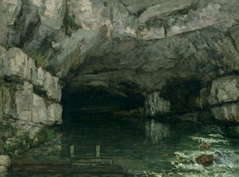 The Grotto of the Loue, 1864 Festmény reprodukció