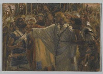 The Healing of Malchus, illustration from 'The Life of Our Lord Jesus Christ', 1886-94 Festmény reprodukció