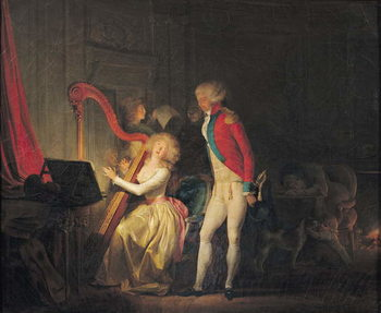 The Improvised Concert, or The Price of Harmony, 1790 Festmény reprodukció