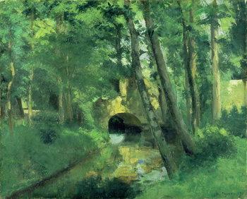 The Little Bridge, Pontoise, 1875 Festmény reprodukció