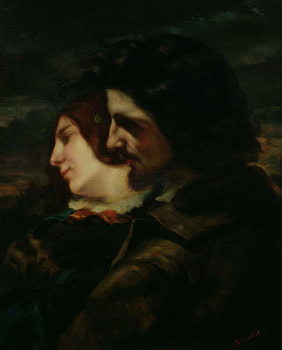 The Lovers in the Countryside, after 1844 Festmény reprodukció