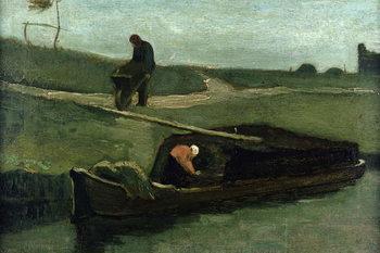 The Peat Boat, 1883 Festmény reprodukció