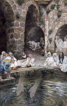 The Pool of Bethesda, illustration for 'The Life of Christ', c.1886-94 Festmény reprodukció