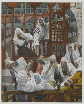 The Possessed Man in the Synagogue, illustration from 'The Life of Our Lord Jesus Christ' Festmény reprodukció