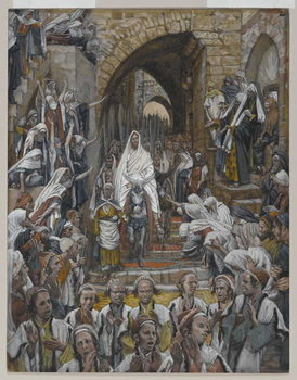 The Procession in the Streets of Jerusalem, illustration from 'The Life of Our Lord Jesus Christ', 1886-94 Festmény reprodukció
