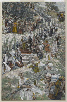 The Procession on the Mount of Olives, illustration from 'The Life of Our Lord Jesus Christ', 1886-94 Festmény reprodukció