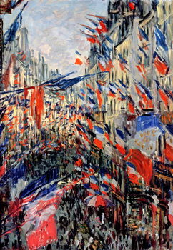 The Rue Saint-Denis, Celebration of June 30, 1878 Festmény reprodukció