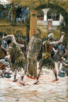 The Scourging, illustration for 'The Life of Christ', c.1884-96 Festmény reprodukció