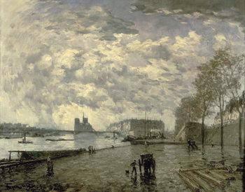The Seine and Notre Dame Festmény reprodukció