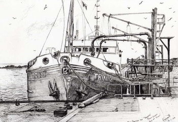 The Trinity port Ellen Isle of Islay, 2007, Festmény reprodukció