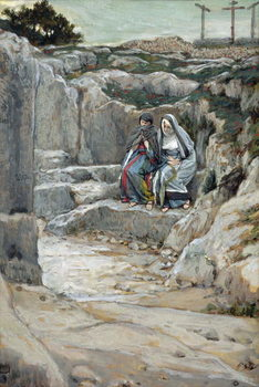 The Two Marys Watch the Tomb, illustration for 'The Life of Christ', c.1886-94 Festmény reprodukció
