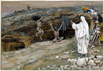 The Two Men Possessed with Unclean Spirits, illustration for 'The Life of Christ', c.1884-96 Festmény reprodukció