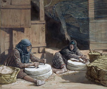 The Two Women at the Mill, illustration for 'The Life of Christ', c.1886-94 Festmény reprodukció