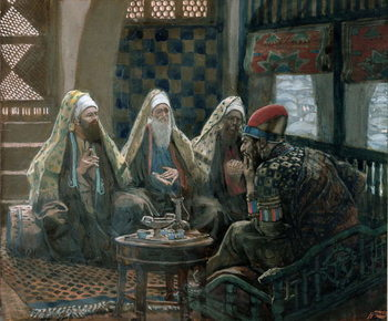 The Wise Men and Herod, illustration for 'The Life of Christ', c.1886-94 Festmény reprodukció