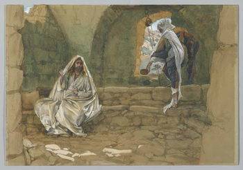 The Woman of Samaria at the Well, illustration from 'The Life of Our Lord Jesus Christ' Festmény reprodukció