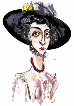 Victoria Mary 'Vita' Sackville-West English poet and novelist ; caricature Festmény reprodukció