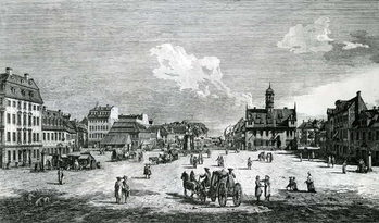 View of Dresden Festmény reprodukció