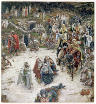 What Christ Saw from the Cross, illustration for 'The Life of Christ', c.1886-96 Festmény reprodukció