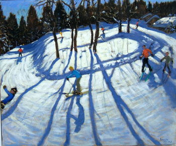 Winding Trail, Morzine Festmény reprodukció