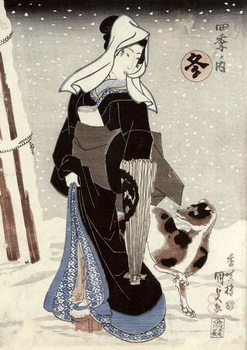 Winter, from the series 'Shiki no uchi' (The Four Seasons) Festmény reprodukció