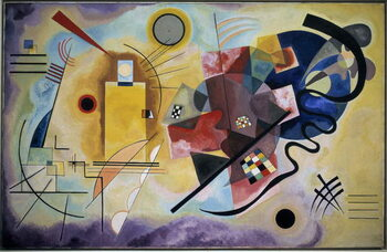 Yellow-Red-Blue, 1925 Festmény reprodukció