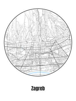 Zagreb térképe