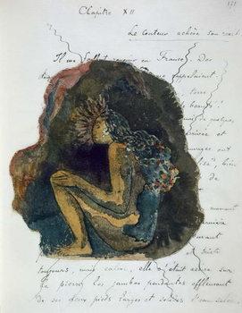 A native Deity, from 'Noa Noa, Voyage a Tahiti', published 1926 Festmény reprodukció