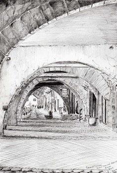 Arches Sauveterre France, 2010, Festmény reprodukció