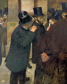 At the Stock Exchange, c.1878-79 Festmény reprodukció