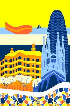Barcelona Festmény reprodukció