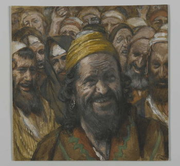 Barrabbas, illustration from 'The Life of Our Lord Jesus Christ', 1886-94 Festmény reprodukció