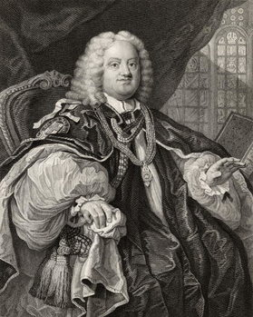 Benjamin Hoadly, engraved by Benjamin Holl (1808-84) from 'The Works of Hogarth', published 1833 Festmény reprodukció
