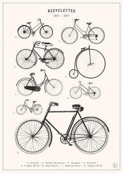 Bicyclettes Festmény reprodukció